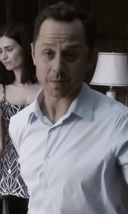 Giovanni Ribisi with Orlebar Brown Solid Long-Sleeve Linen Shirt in Sneaky Pete