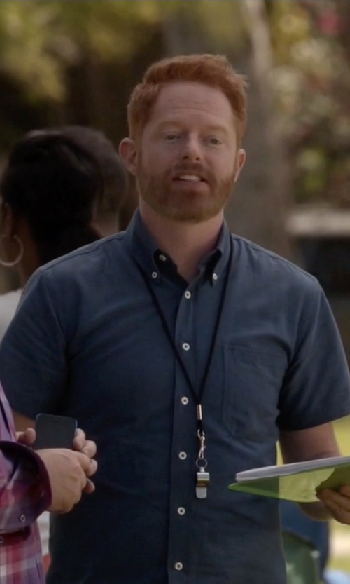 Jesse Tyler Ferguson with Tommy Bahama Island Modern Fit Hamilton S/S Camp Shirt in Modern Family
