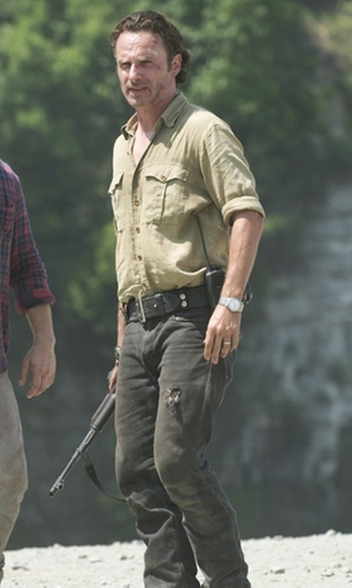 Andrew Lincoln with Kenneth Cole KC3584 Watch in The Walking Dead