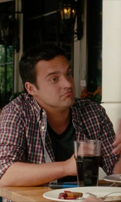 Jake Johnson with Bottoms Out Men's V-Neck T-Shirt in No Strings Attached