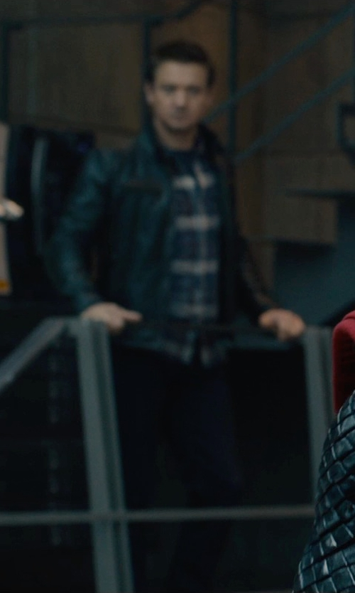 Jeremy Renner with Matchless London Osborne Limited Edition Blouson Jacket in Avengers: Age of Ultron