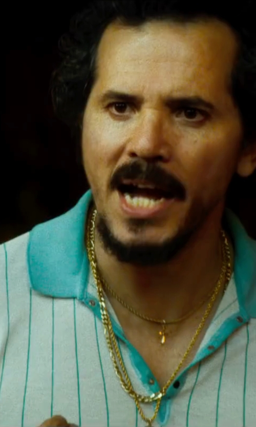 John Leguizamo with Ben Hogan Striped Jacquard Polo Shirt in The Infiltrator
