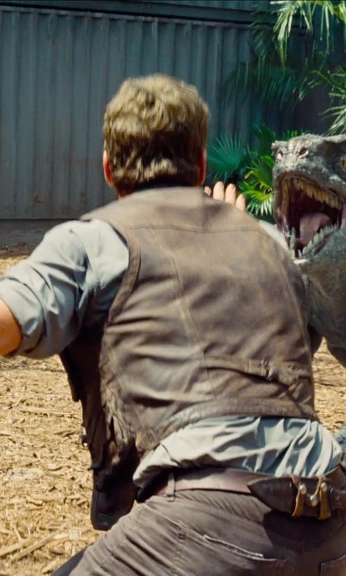 Chris Pratt with Torino Leather Co. Italian Calf Suede Belt in Jurassic World