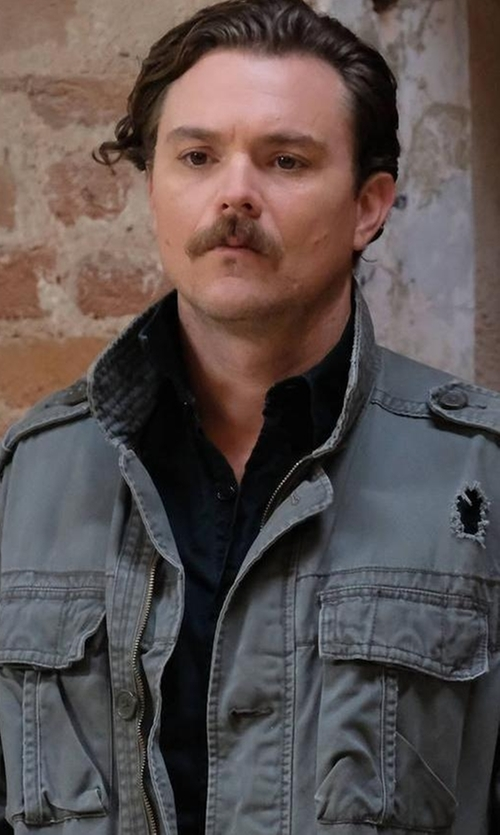 Clayne Crawford with G-Star 3301 Denim Shirt in Lethal Weapon