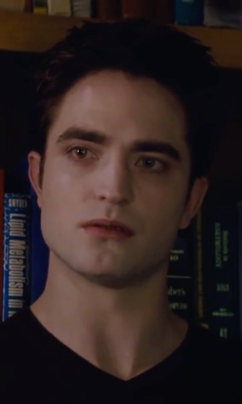 Robert Pattinson with Calvin Klein Solid Merino V-Neck Sweater in The Twilight Saga: Breaking Dawn - Part 2