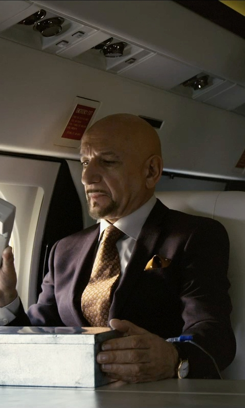Ben Kingsley with Charvet Solid Poplin French-Cuff Shirt in Self/Less