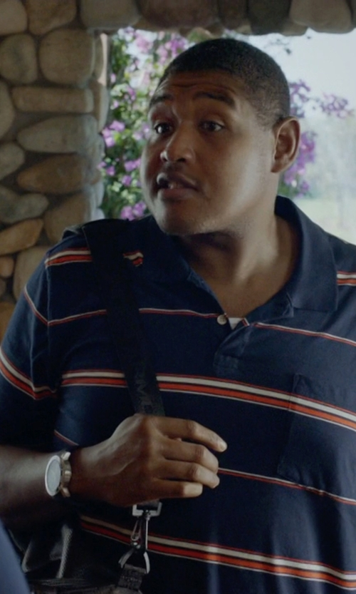 Omar Benson Miller with Raymond Weil Maestro Stainless Steel Watch in Ballers