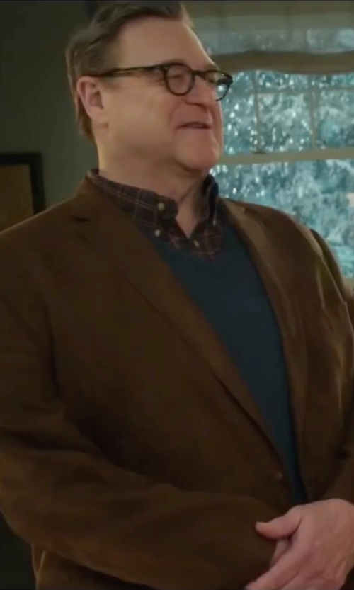 John Goodman with Royal Robbins Mason Plaid Long Sleeve Shirt in Love the Coopers