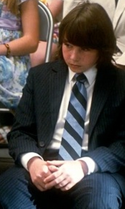 Jonah Bobo with Corneliani Pinstripe Suit in Crazy, Stupid, Love.