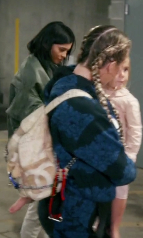 Khloe Kardashian with Chanel Large Graffiti Printed Backpack in Keeping Up With The Kardashians
