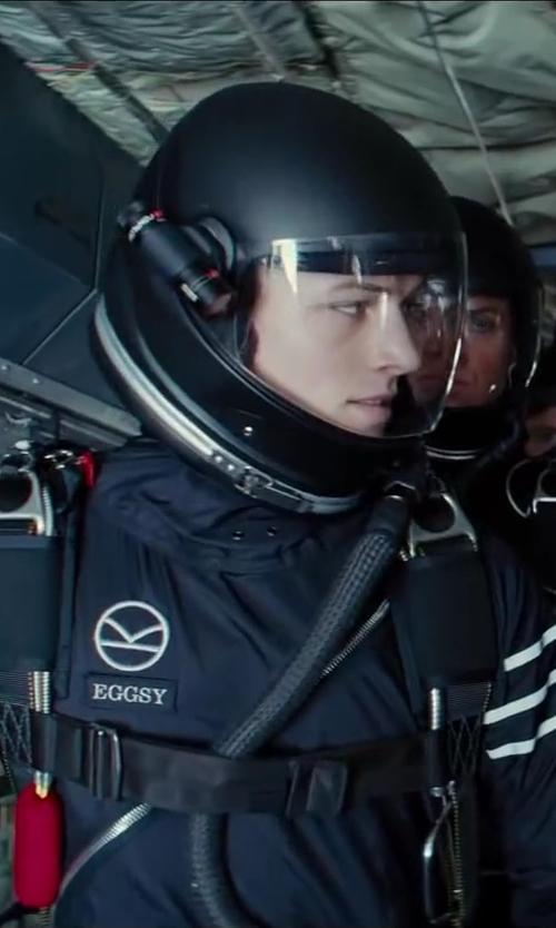 Taron Egerton with Cookie Composites G3 Skydiving Helmet in Kingsman: The Secret Service