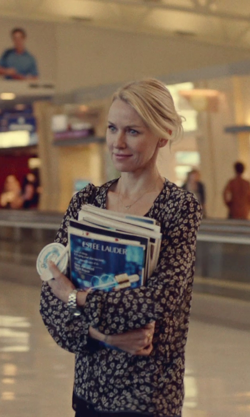 Naomi Watts with Citizen Stainless Steel Eco-Drive Watch in While We're Young
