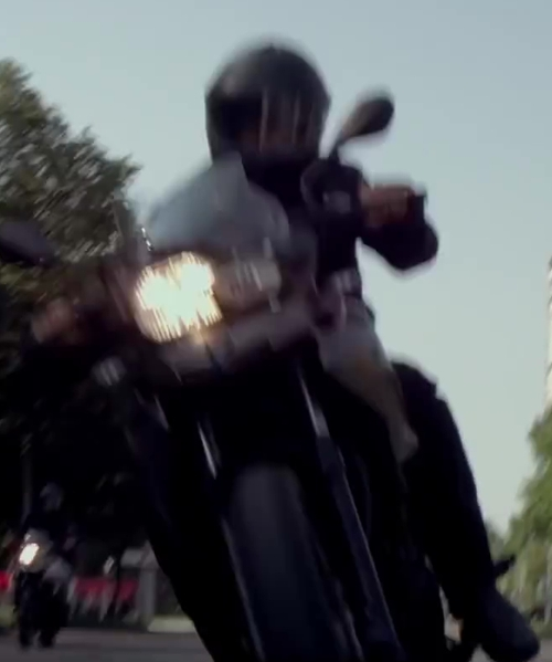 Unknown Actor with BMW 700GS Motorcycle in The November Man