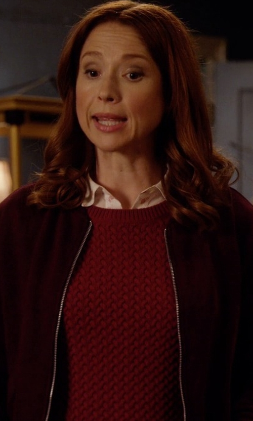 Ellie Kemper with French Connection Women's Candy Knits Sweater in Unbreakable Kimmy Schmidt