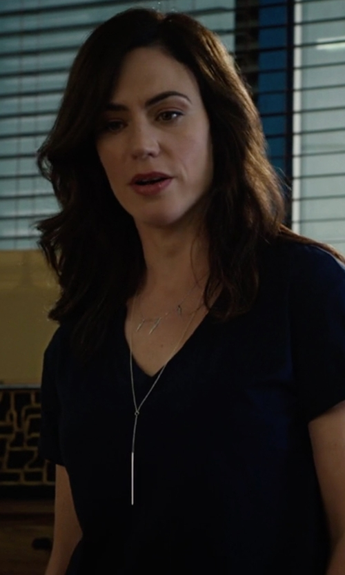 Maggie Siff with Joie Marcher Top in Billions