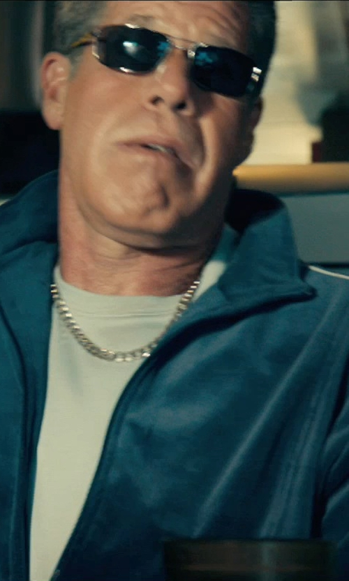Ron Perlman with David Yurman Extra-Large Box Chain Necklace in Drive