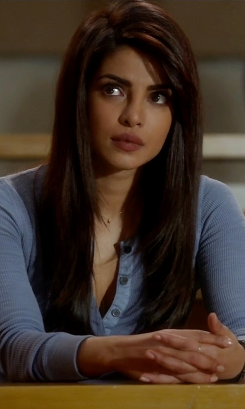 Priyanka Chopra with Karen Scott Henley Top in Quantico