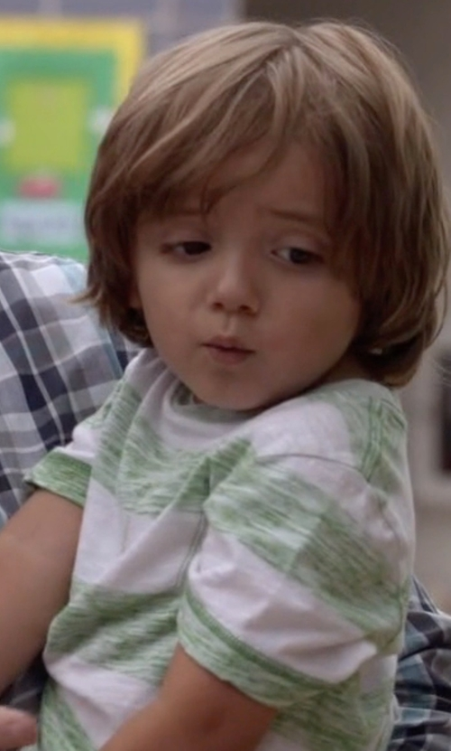 Jeremy Maguire with RuggedButts Boys Stripe Pocket Tee Shirt in Modern Family