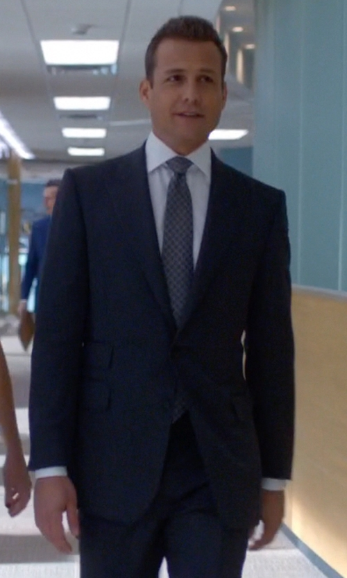 Gabriel Macht with Tom Ford Three Piece Peak Lapel Suit in Suits