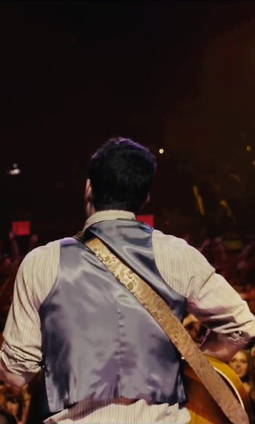 Adam Levine with Armani Collezioni Wool Blend Waistcoat Vest in Begin Again