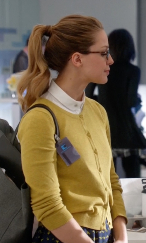 Melissa Benoist with P.A.R.O.S.H. 'Sybil' Cardigan in Supergirl