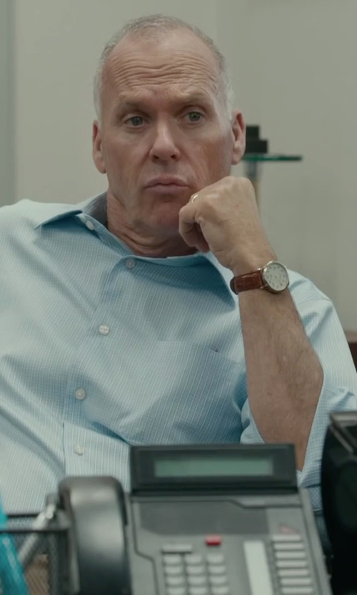 Michael Keaton with Hugo Boss Silver-Tone Dial Watch in Spotlight