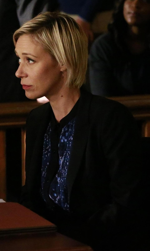 Liza Weil with Boss Julea Stretch Wool Jacket in How To Get Away With Murder