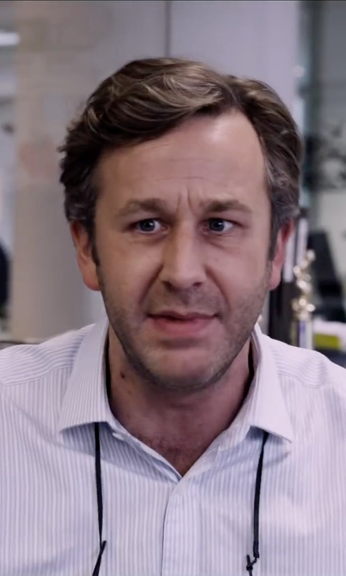 Chris O'Dowd with Armani Collezioni Stripe Dress Shirt in The Program