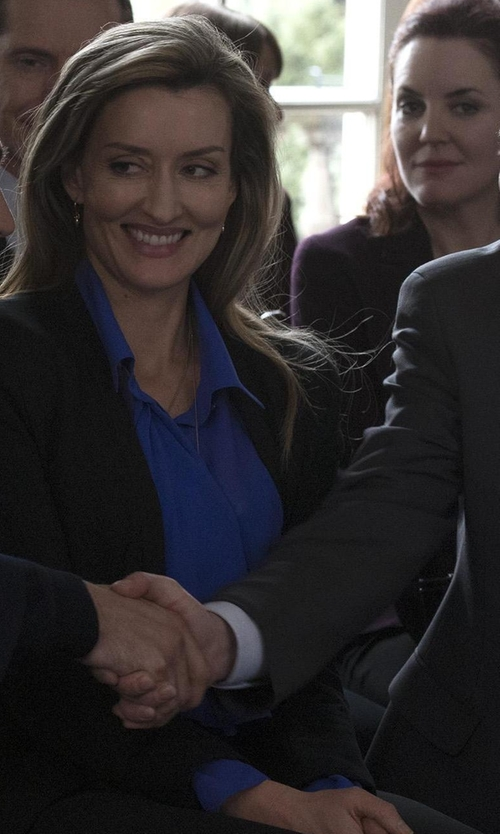 Natascha McElhone with Miu Miu Long Sleeve Shirt in Designated Survivor