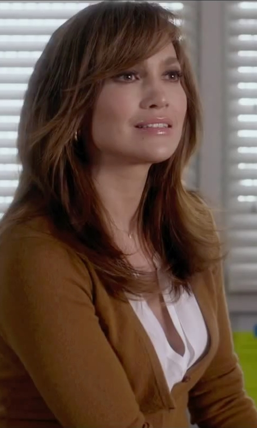 Jennifer Lopez with Marni V-Neck Cardigan in The Boy Next Door
