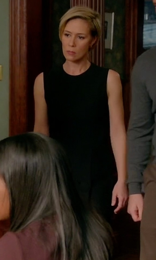 Liza Weil with Vince Classic Sleeveless Dress in How To Get Away With Murder