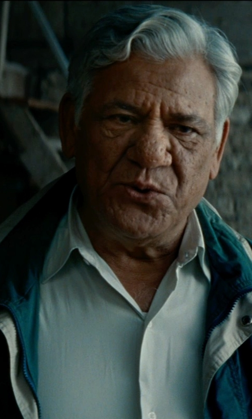 Om Puri with A&E Designs Nylon Coach Jacket in The Hundred-Foot Journey