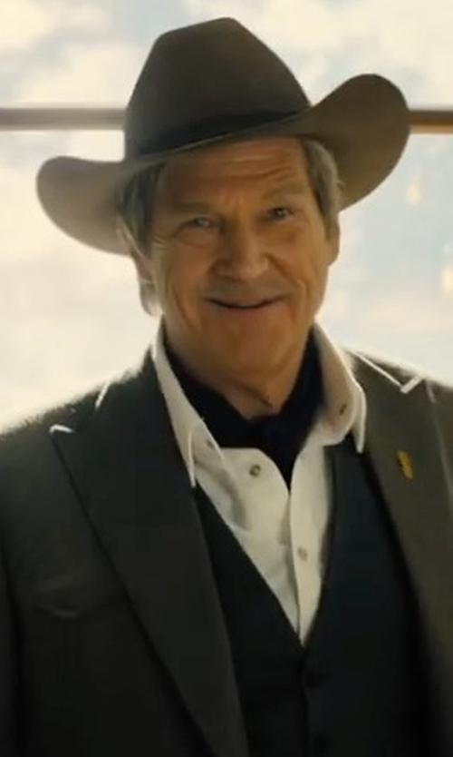Jeff Bridges with Brixton Messer Fedora Hats in Kingsman: The Golden Circle