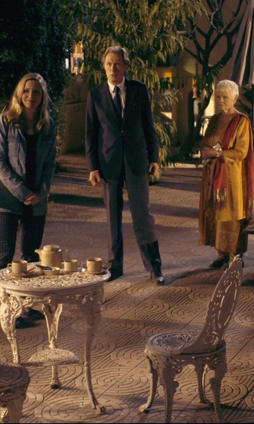 Bill Nighy with Valentino Slim-Fit Cotton Dress Shirt in The Second Best Exotic Marigold Hotel