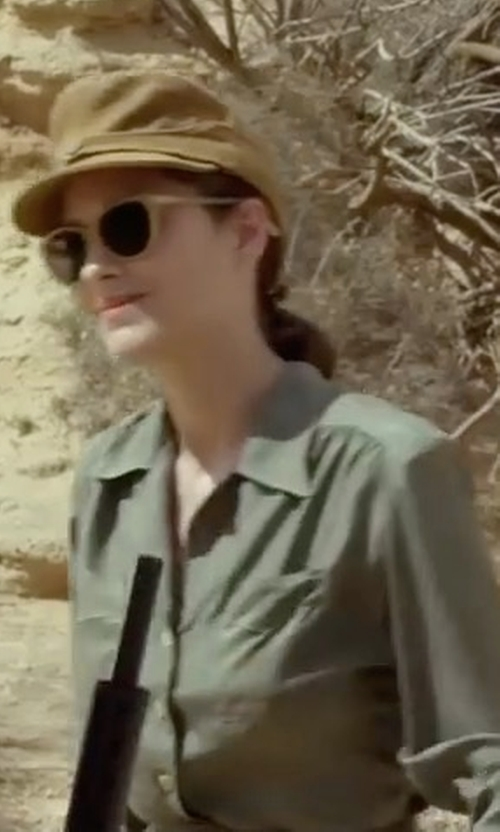 Marion Cotillard with One Teaspoon Desert Ranch Button Up Shirt in Allied