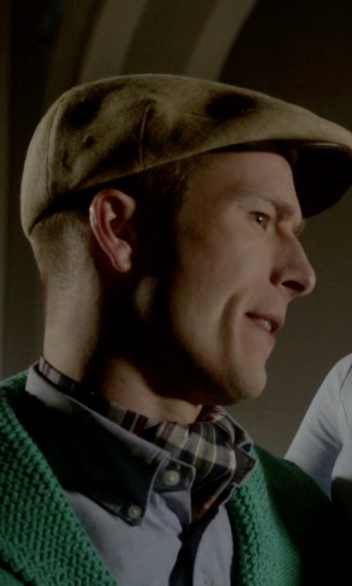 Glen Powell with Kaminski XY Rigg Cap in Scream Queens
