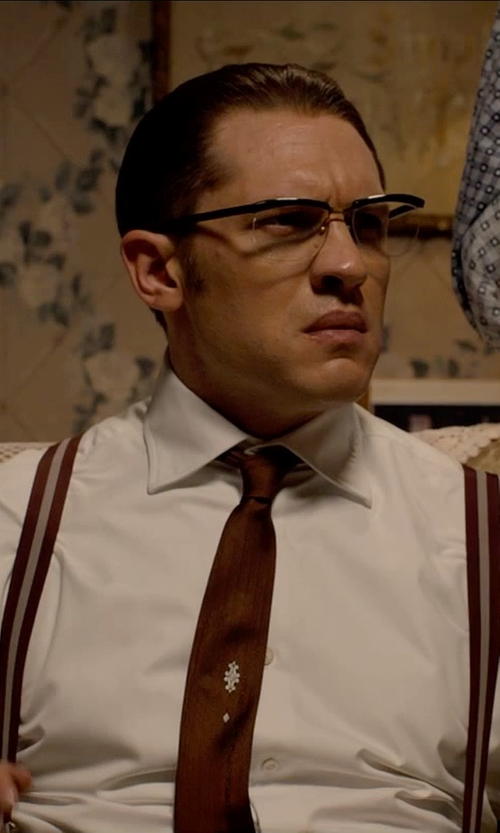 Tom Hardy with Calibrate 'Sunset' Solid Silk Tie in Legend