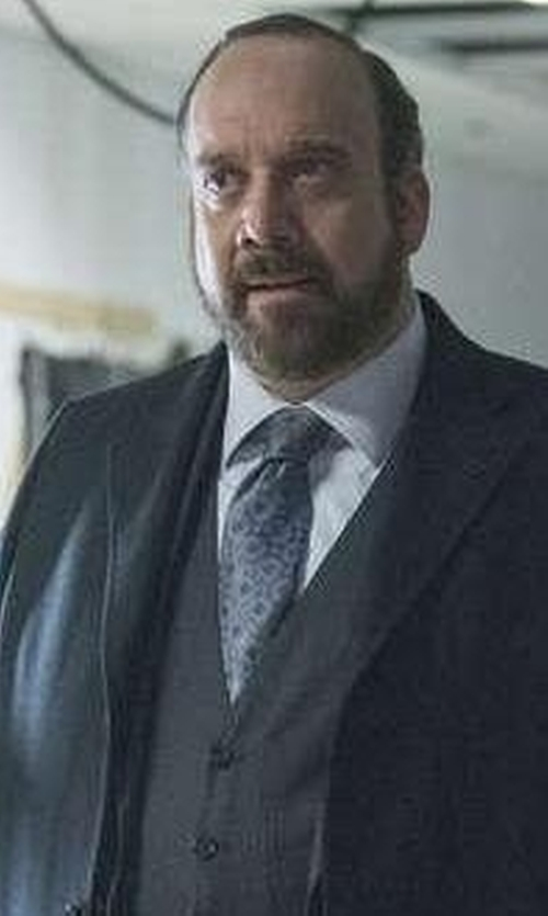 Paul Giamatti with Salvatore Ferragamo Gancini Print Silk Tie in Billions