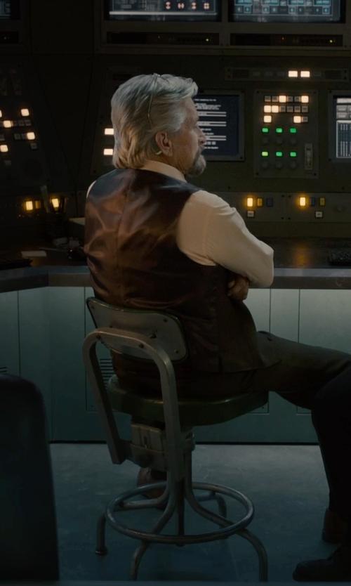 Michael Douglas with Overland Sheepskin Co Glenn Waxed Lambskin Leather Vest in Ant-Man