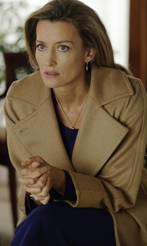 Natascha McElhone with Eileen Fisher Silk Drop-Waist Dress in Designated Survivor