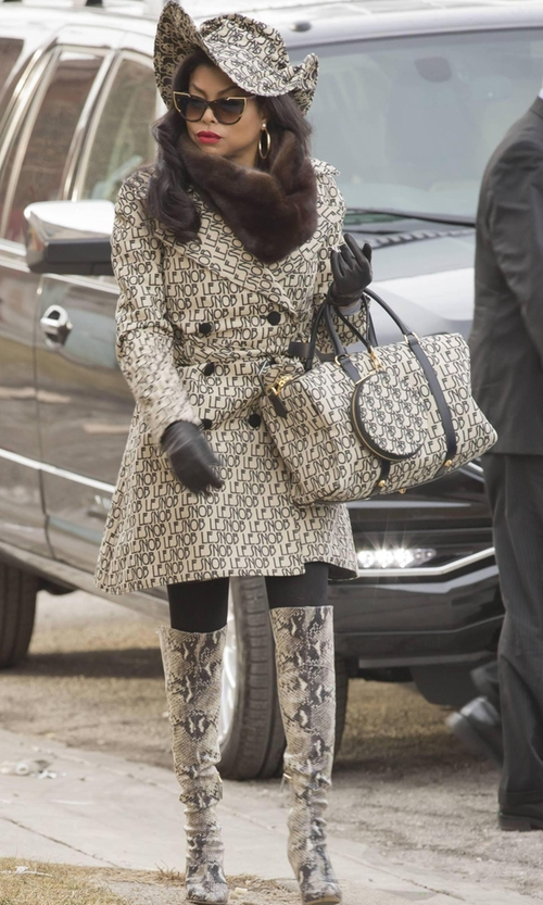 Taraji P. Henson with Le Snob Canvas Hat in a Bag in Empire