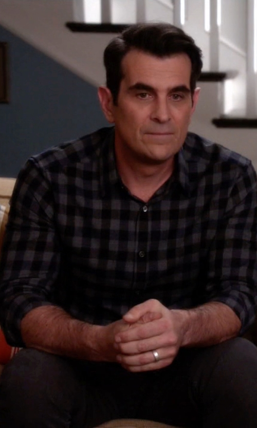 Ty Burrell with J.Crew Slim Vintage Oxford Shirt In Gingham in Modern Family