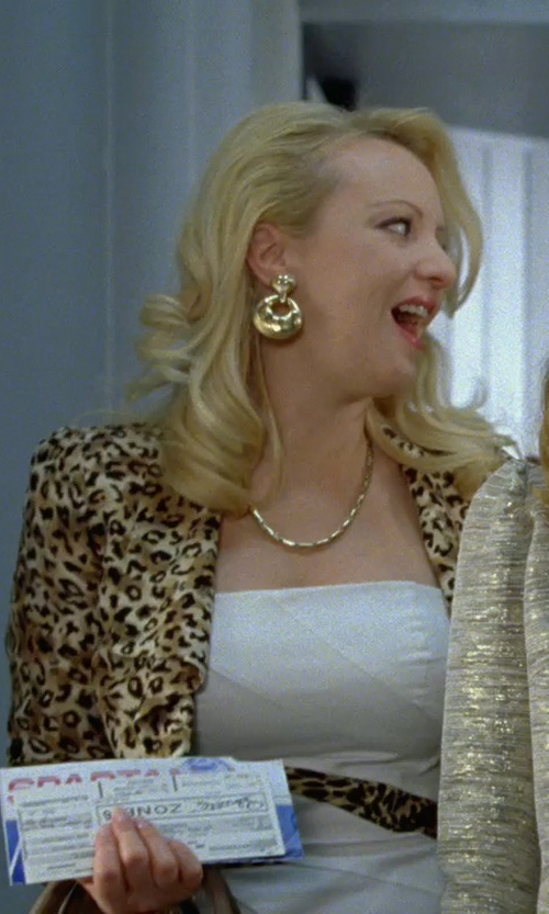 Wendi McLendon-Covey with Roberto Cavalli Leopard Print Blazer in Bridesmaids
