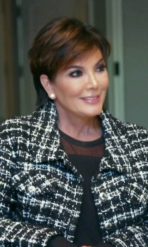 Kris Jenner with Emanuel Ungaro Tweed Blazer in Keeping Up With The Kardashians
