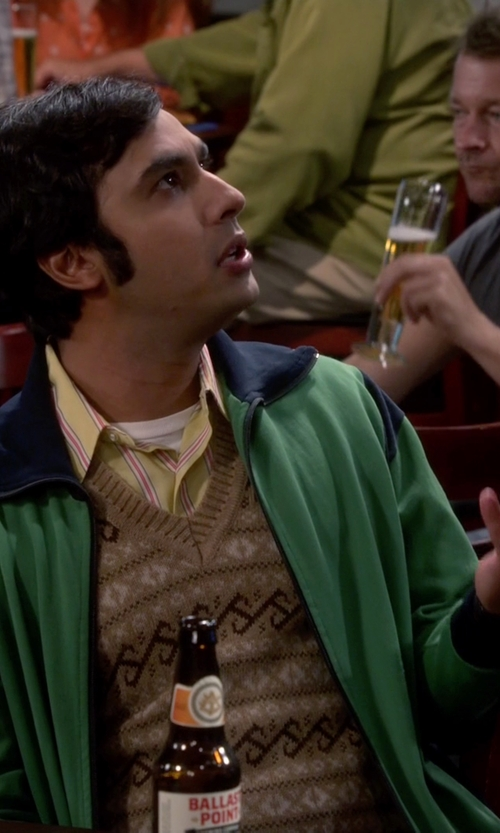 Kunal Nayyar with Dockers Men's Fair Isle Vest in The Big Bang Theory