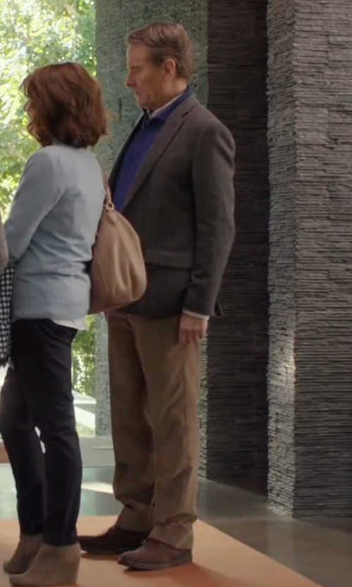 Bryan Cranston with Theory Zaine Slim Straight-Leg Pants in Why Him?
