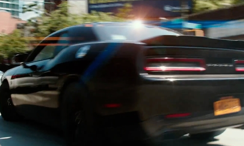 Stephen Amell with Dodge Challerger SRT 392 Coupe in Teenage Mutant Ninja Turtles: Out of the Shadows
