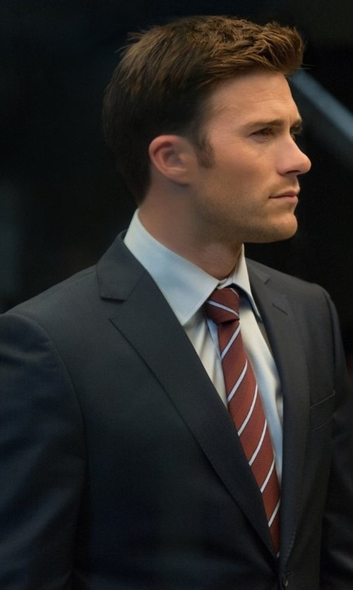 Scott Eastwood with Burberry Modern-Fit Wool Suit in The Fate of the Furious
