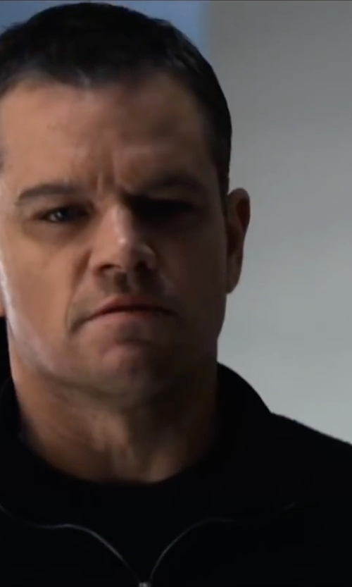 Matt Damon with Perry Ellis Three-Pocket Zip-Front Lightweight Jacket in Jason Bourne