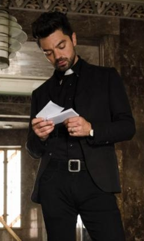 Dominic Cooper with Kenneth Cole New York Stretch Military Shirt in Preacher
